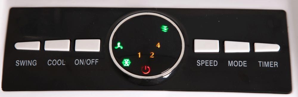 panel control climatizador evaporativo portatil