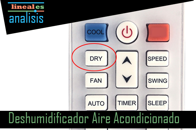 funcion deshumidificacion en los aires acondicionados