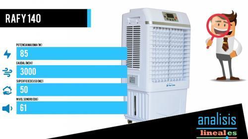 climatizador evaporativo industrial robusto rafy 140