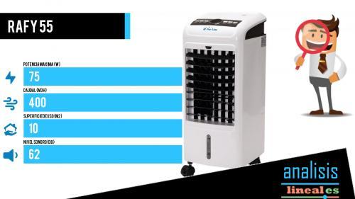 Climatizador evaporativo portatil Rafy 55