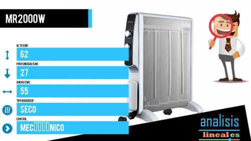 Radiador de mica sencillo y eficiente, la solución más fácil para tu h